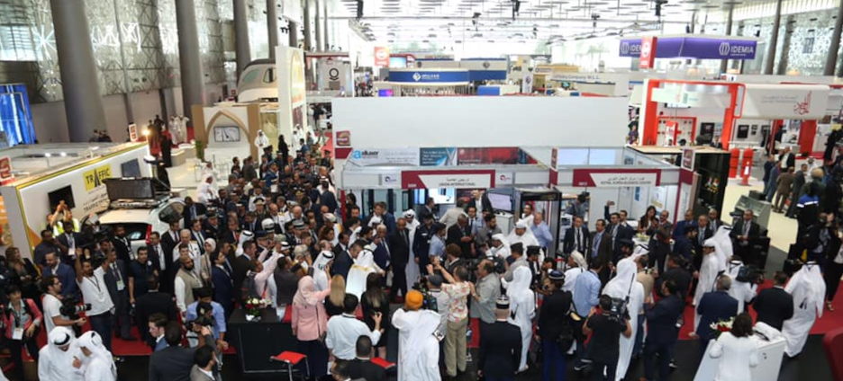 Milipol Qatar exhibiting floor