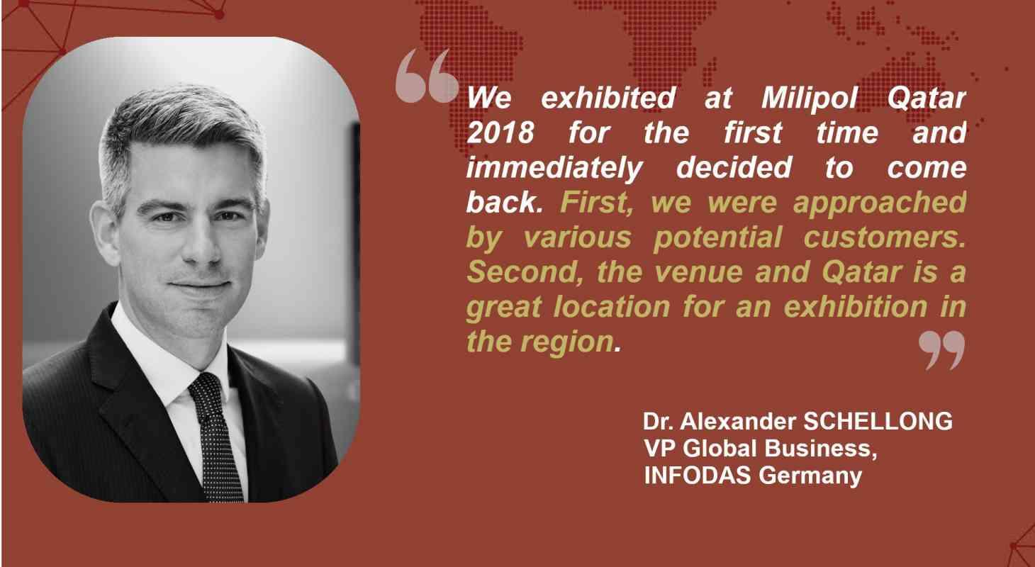 Interview INFODAS Germany, Milipol Qatar 2021 exhibitor