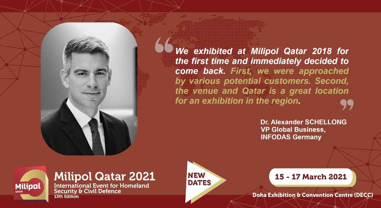 Interview INFODAS Germany, Milipol Qatar 2021 exhibitor