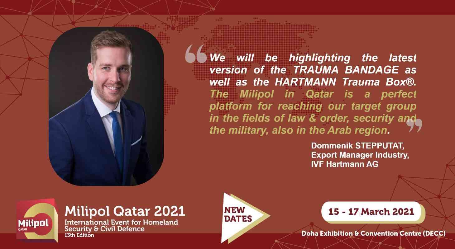 Interview IVF Hartmann, Milipol Qatar 2021 exhibitor