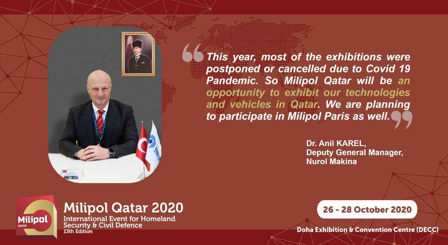 Interview Nurol Makina, Milipol Qatar 2021 exhibitor