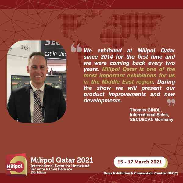 Interview SECUSCAN Germany, Milipol Qatar 2021 exhibitor