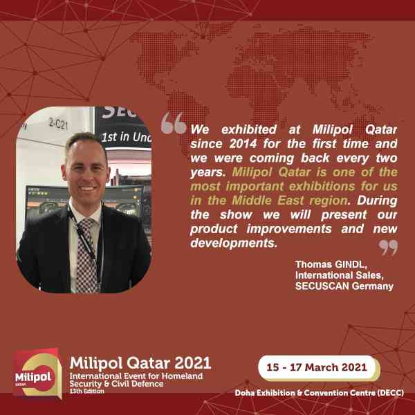 Interview SECUSCAN Germany, Milipol Qatar 2021 exhibitor