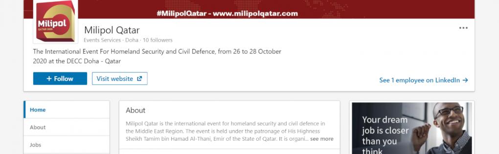 Join Milipol Qatar on social media