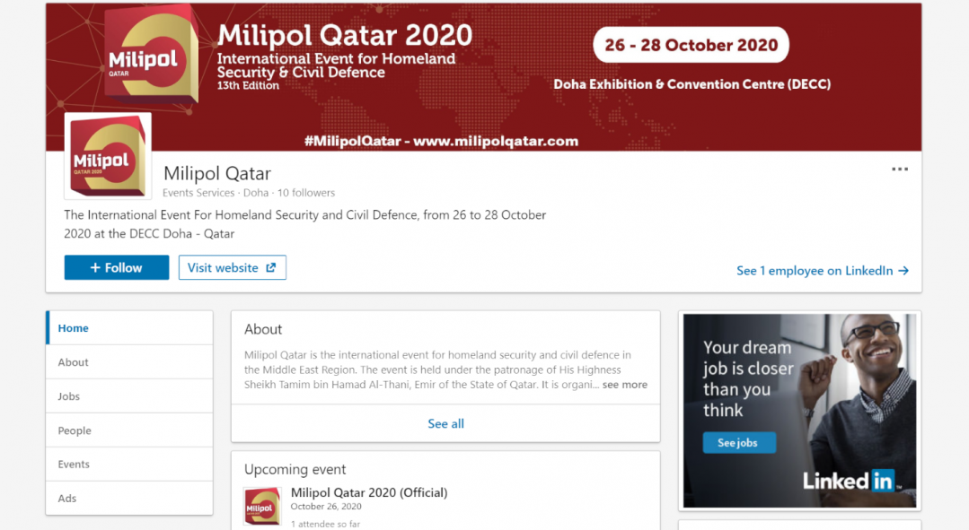 Join Milipol Qatar on social media