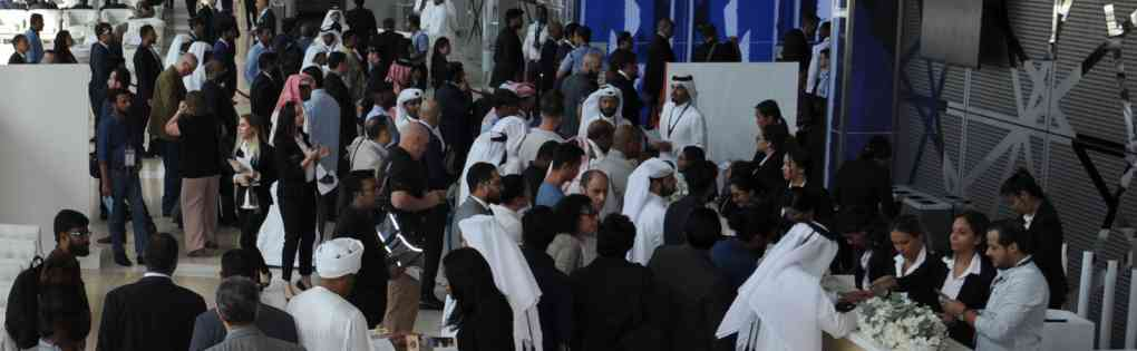 Welcome desk at the Milipol Qatar entrance