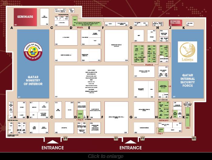 Milipol Qatar 2021 Floor Plan