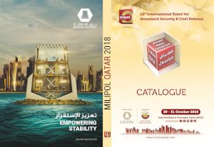 Milipol Qatar catalogue advertising