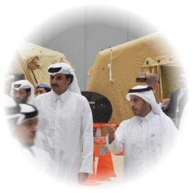 Visite de l'Emir et du Ministre de l'Intérieur du Qatar