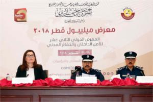 Conférence de presse pour annoncer les dates de Milipol Qatar 2018